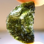 Natural half of disk - Moldavite