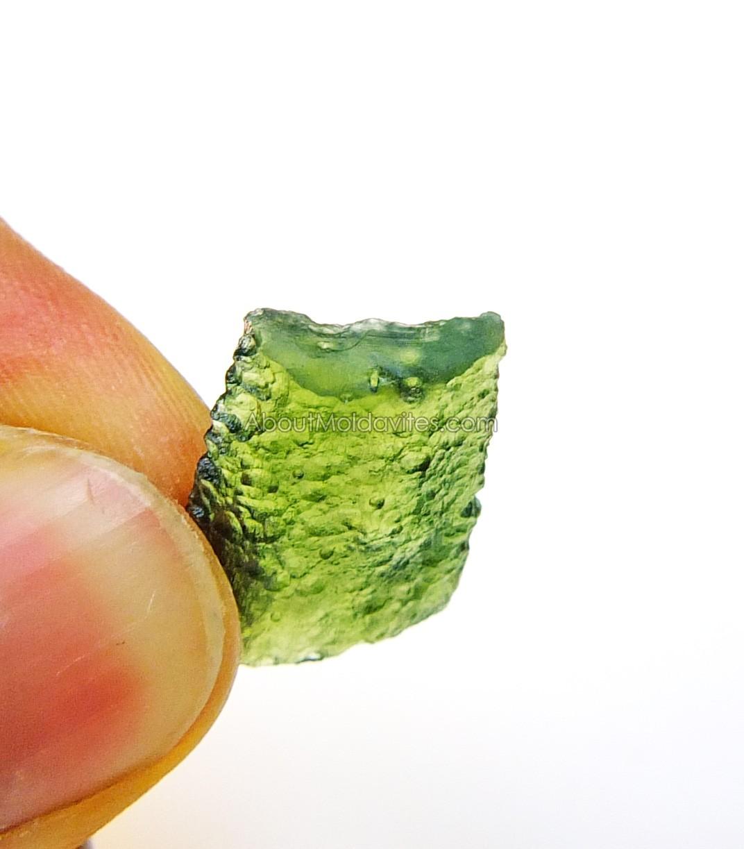 Etched damaged moldavite (without grinded texture)