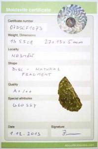 07DSCF1073 - Certified moldavite