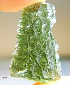 Small moldavite from locality Nesmen