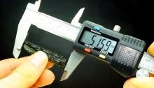 Measure od moldavite dimension with vernier scale