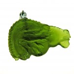 Back - Pendant - Capricorn (carved moldavite)