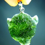 Carving - the Bull (pendant - moldavite)