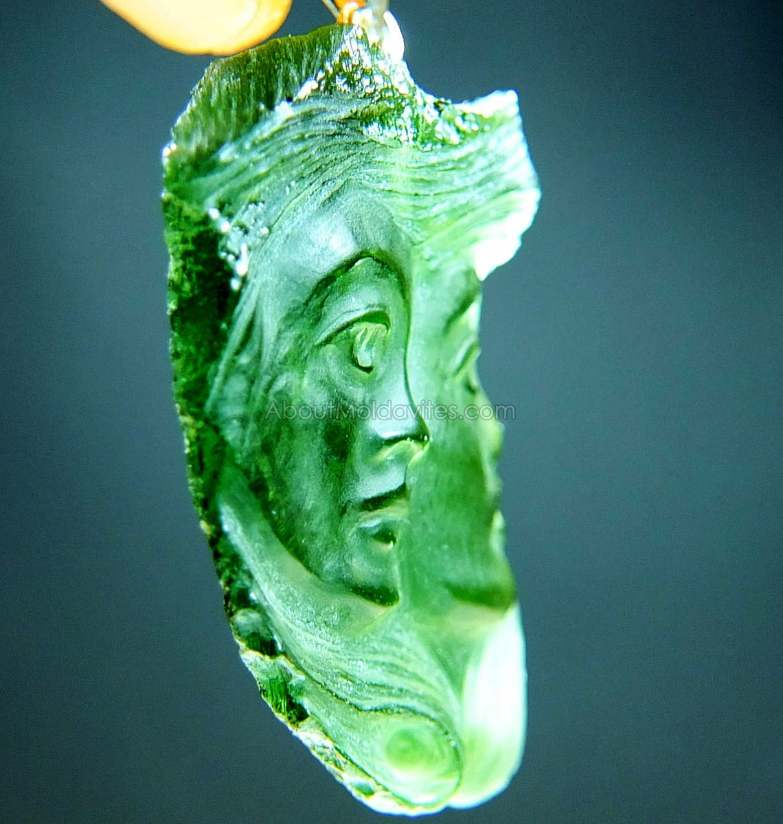 Natural Carved Moldavite