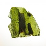 Channel throught the moldavite (natural fragment)