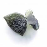 Natural diveded moldavite - elipsoid
