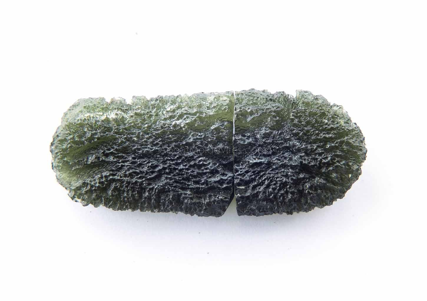 Naturally divided moldavites - drop