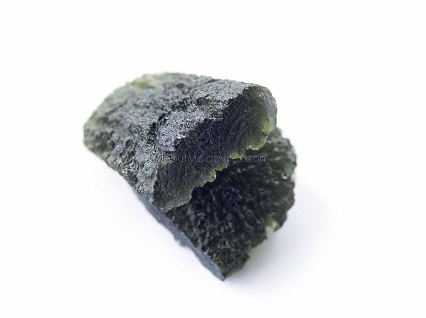 Naturally divided moldavites - drop