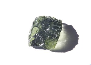 Moldavite with abrasion
