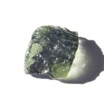 Moldavite in incident daylight