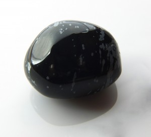 Tumbled Snow-flake Obsidian