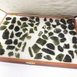 Moldavites in case