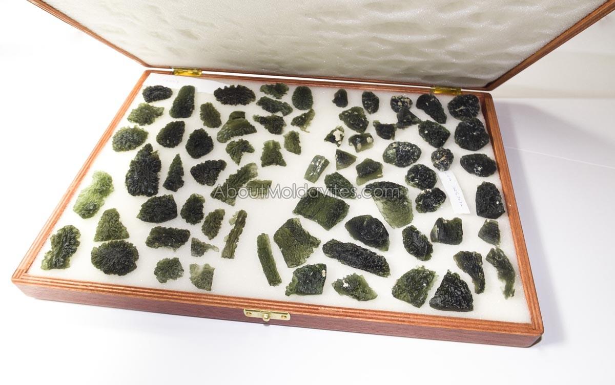 Moldavites in case