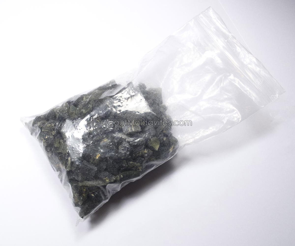 Moldavites in large zip bag