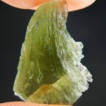 Moldavite with natural break