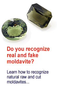 How to recognize a real and fake  moldavite