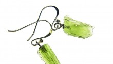 Drop earrings - moldavite