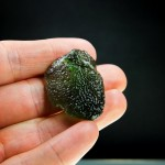 Moldavite with very glossy surface