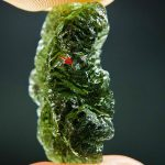 Moldavite with small chip