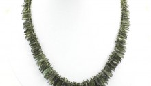 Necklace with 176 moldavites