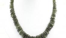 Necklace with 176 moldavites