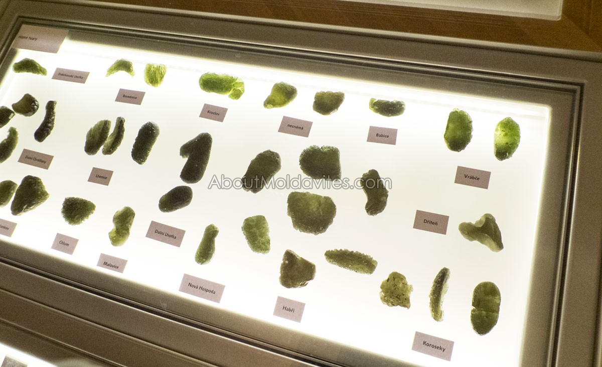 Moldavites from various deposites