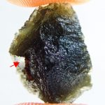 Moldavite with small damage