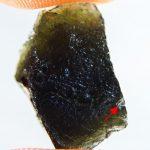 Moldavite with small damage