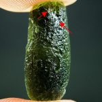 Chipped moldavite