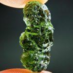 Moldavite with small damaged parts