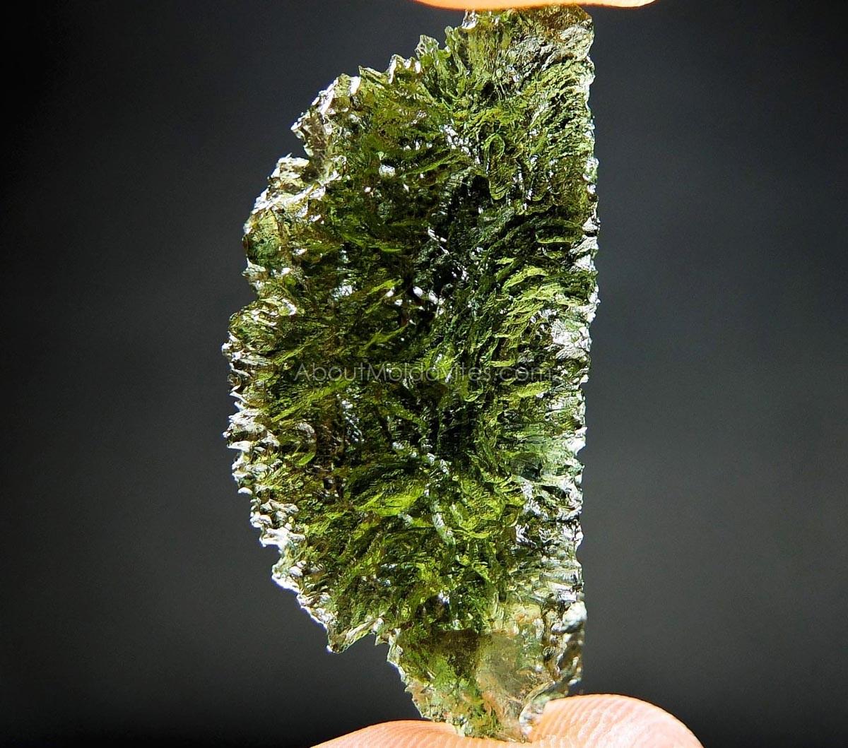 Moldavite from Maly Chlum (like a hedgehog)