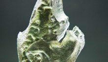 Moldavite with uncommon surface
