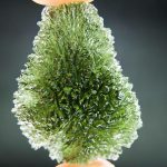 Moldavite from Maly Chlum (drop shape)