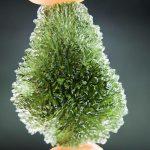 Moldavite from Maly Chlum (drop shape)