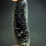 Large moldavite with big closed buuble
