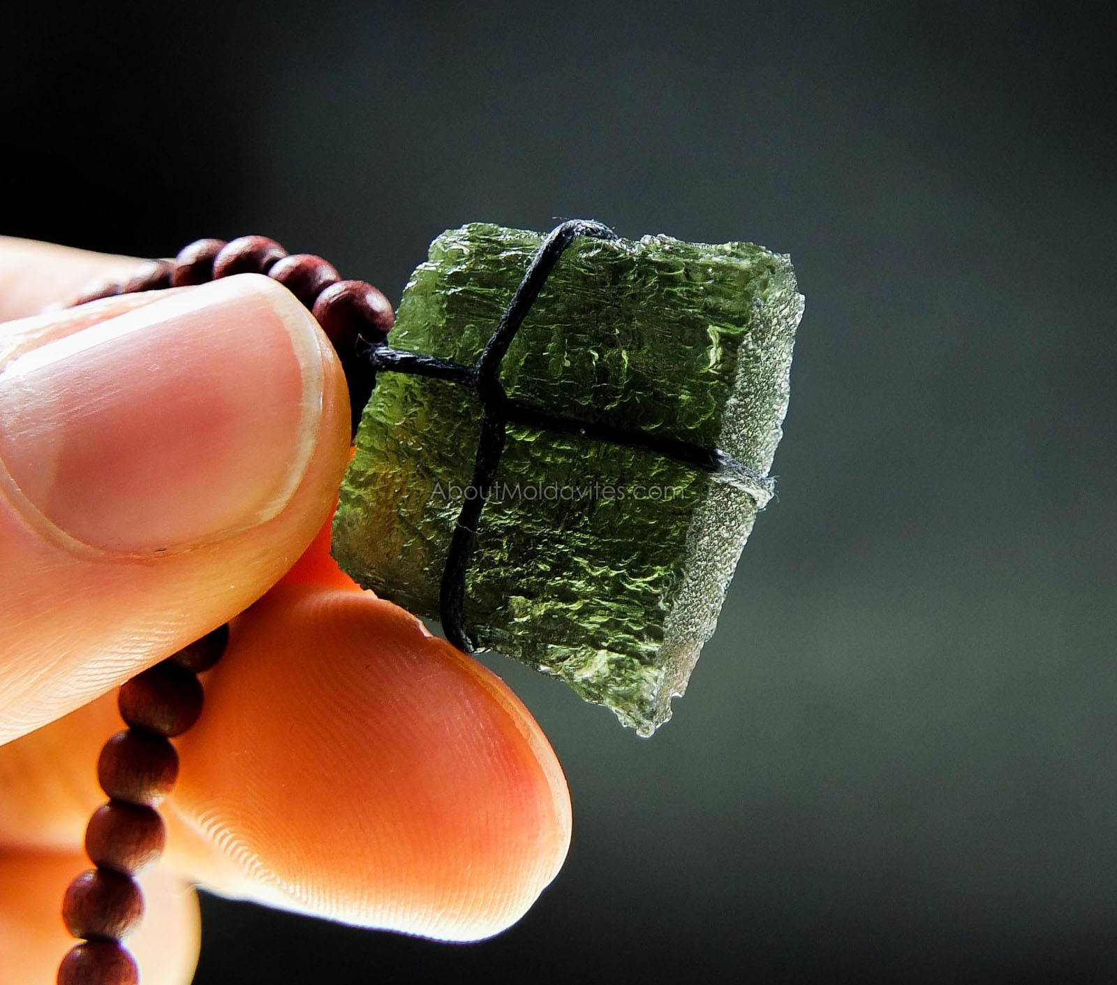 Men's Moldavite Necklace
