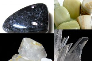 Nuummite, Butter stones, Herkimer, Quartz