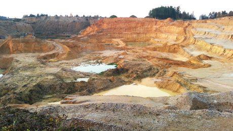 Sandpit Vrabce - moldavites deposit