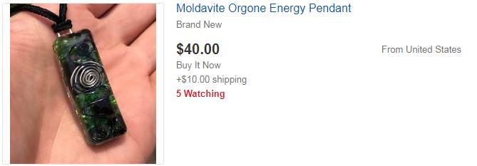 1. Moldavite Orgone Energy Pendant