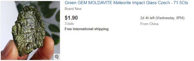 2. Green GEM MOLDAVITE Meteorite Impact Glass Czech - 71.5Cts