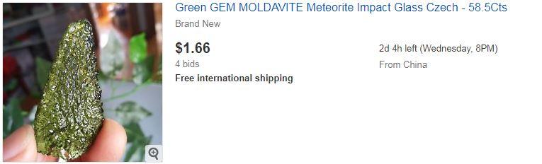 Green GEM MOLDAVITE Meteorite Impact Glass Czech - 58.5Cts