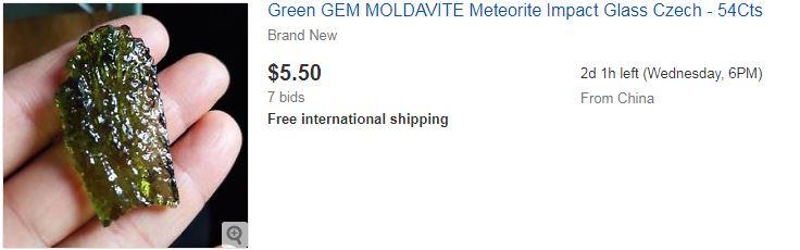 Green GEM MOLDAVITE Meteorite Impact Glass Czech - 54Cts