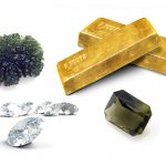 Gold and diamonds and moldavites