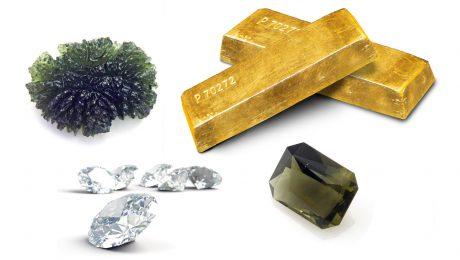 Gold and diamonds and moldavites
