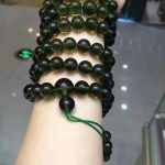 Fake Moldavite beads