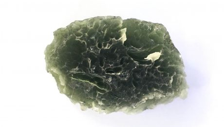 Snow flake / frosty moldavite