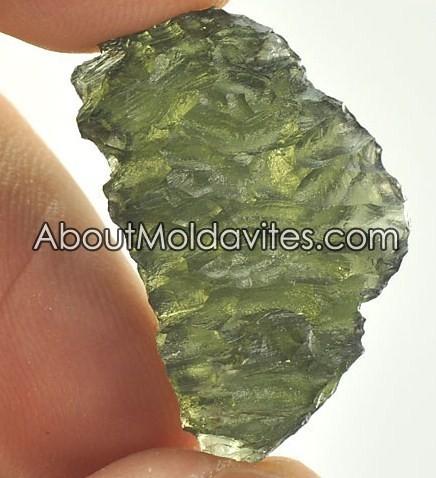 Genuine low auality moldavite from Besdnice