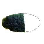 Moldavite - Elipsoid fragment shape